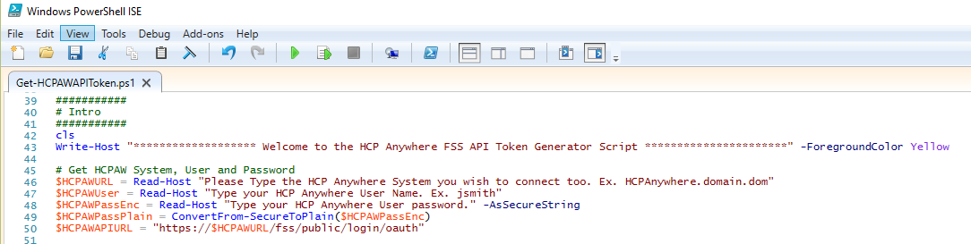 Generate your HCP Anywhere Auth Token with PowerShell using API