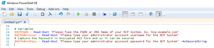 Connect to HCP via PowerShell